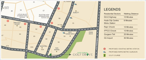63 Golf Drive Location in Gurgaon